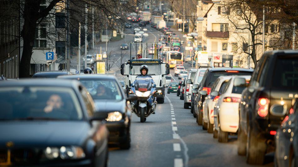 Rushhour in Stuttgart
