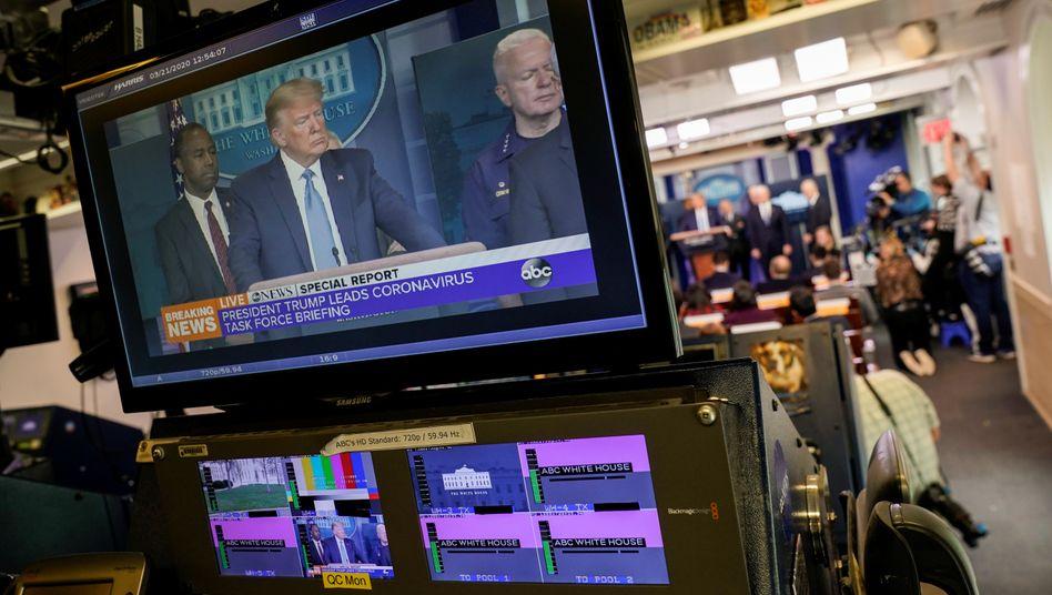 """US-Präsident Trump spricht über den WirkstoffHydroxychloroquin (Archivbild): """"Größter Game Changer in der Medizingeschichte"""""""