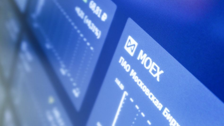 Monitor an der Moskauer Börse