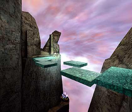 Das eigentliche Spiel besteht aus einer Menge Hüpf- und Springeinlagen, garniert mit gelegentlich auftauchenden Rätseln.