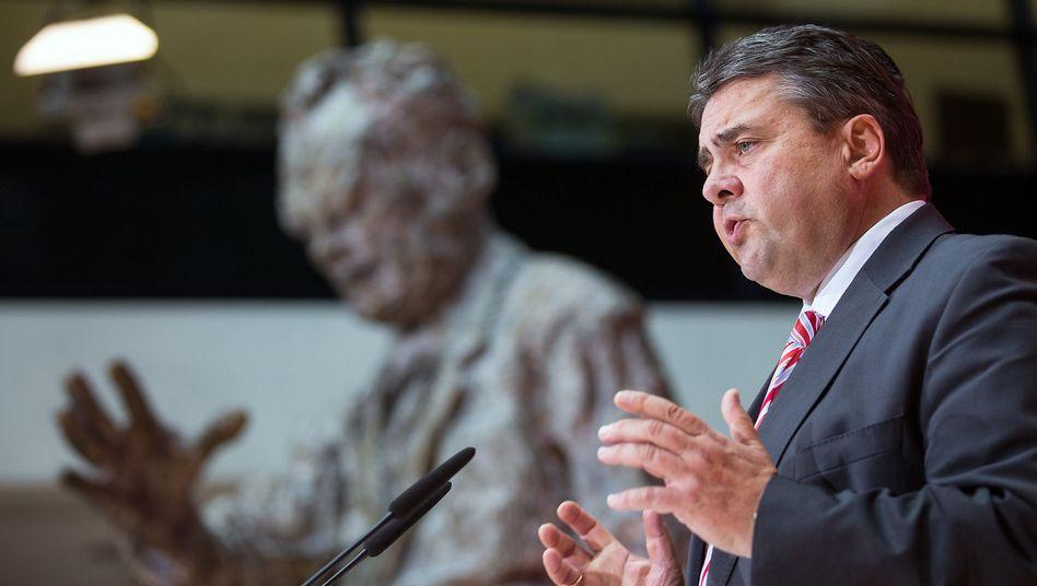 SPD-Chef Gabriel: Zufrieden nach dem Konvent