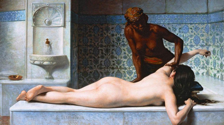Debat-Ponsan-Gemälde »Die Massage«, 1883