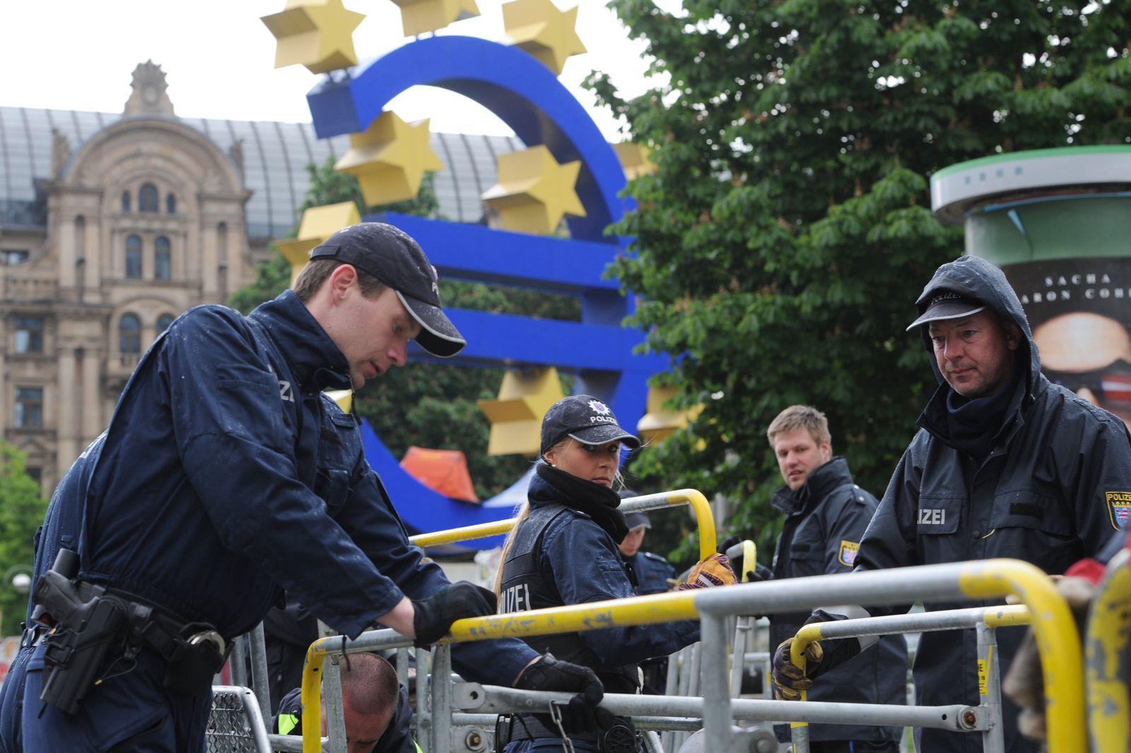 Blockupy/ Frankfurt/ Räumung