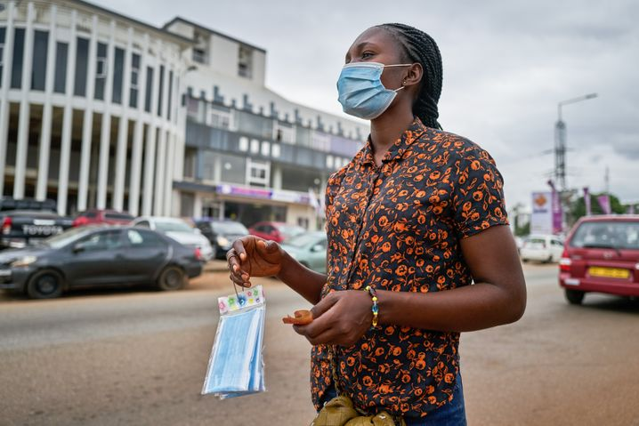 The entire world is suffering: Mask distribution in Ghana