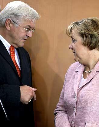 """Steinmeier und Merkel: """"Unterschiedliche Temperamente"""""""