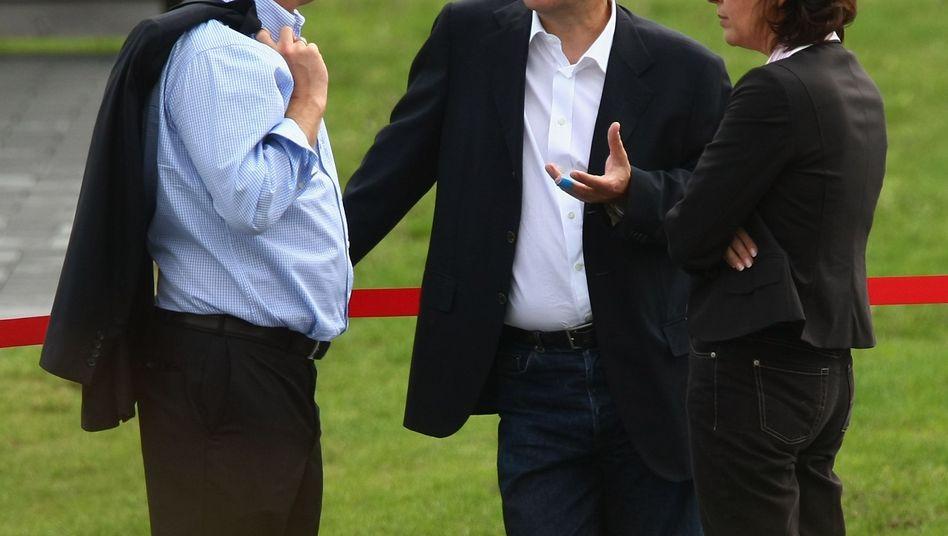 SPD-Mann Hübner (links): Viel Fördergeld für seine Firmen