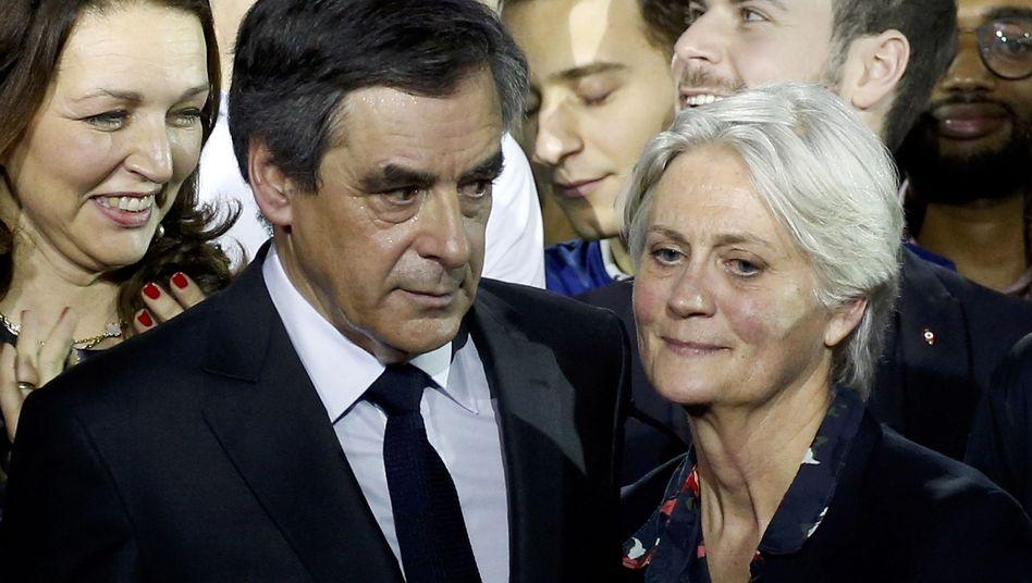 François Fillon mit Ehefrau Penelope