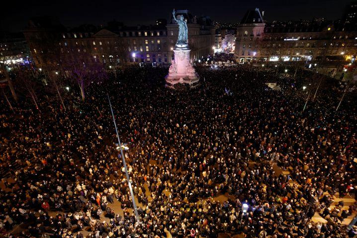 Pariser Platz der Republik am Dienstagabend