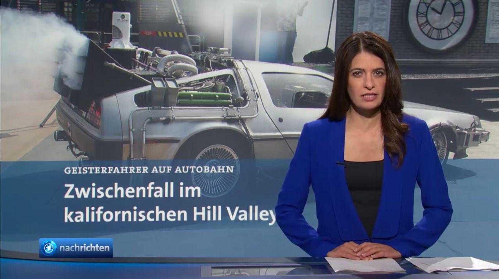 EINMALIGE VERWENDUNG TV/ Tagesschau/ Zurück in die Zukunft SCREENSHOT