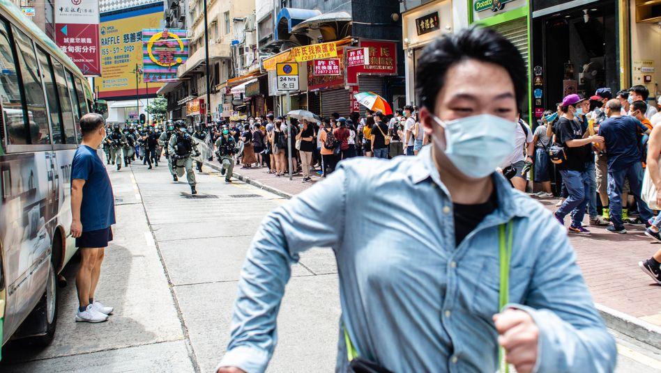 Proteste in Hongkong am 1. Juli