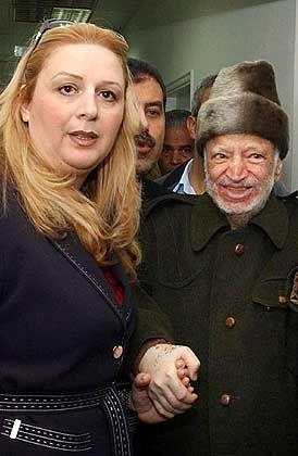 Suha Arafat (mit Jassir, Ende Oktober): Schwere Vorwürfe gegen die palästinensische Regierungsspitze