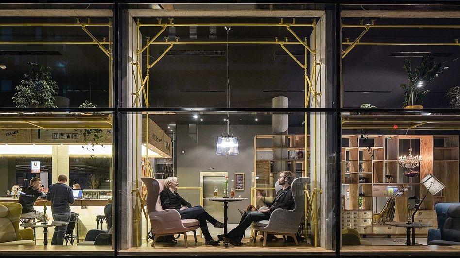 Lobby des Wiener Hotels Schani: Gipfel der Hippness