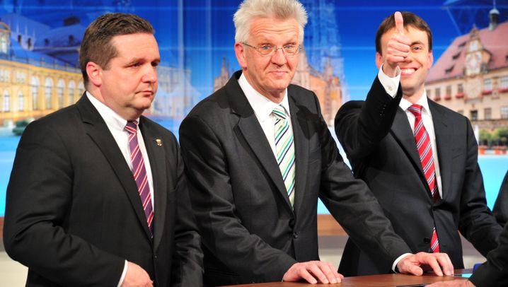 Landtagswahl im Ländle: Grüne im Glück, Debakel für Schwarz-Gelb