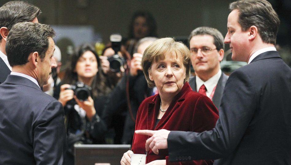 Kanzlerin Merkel mit europäischen Staats- und Regierungschefs: Bundestag umgangen?