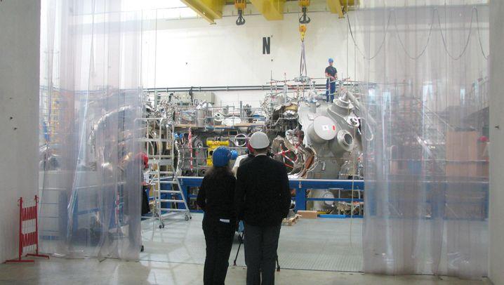 Kernfusionsreaktor: Heißes Plasma im Magnetfeld