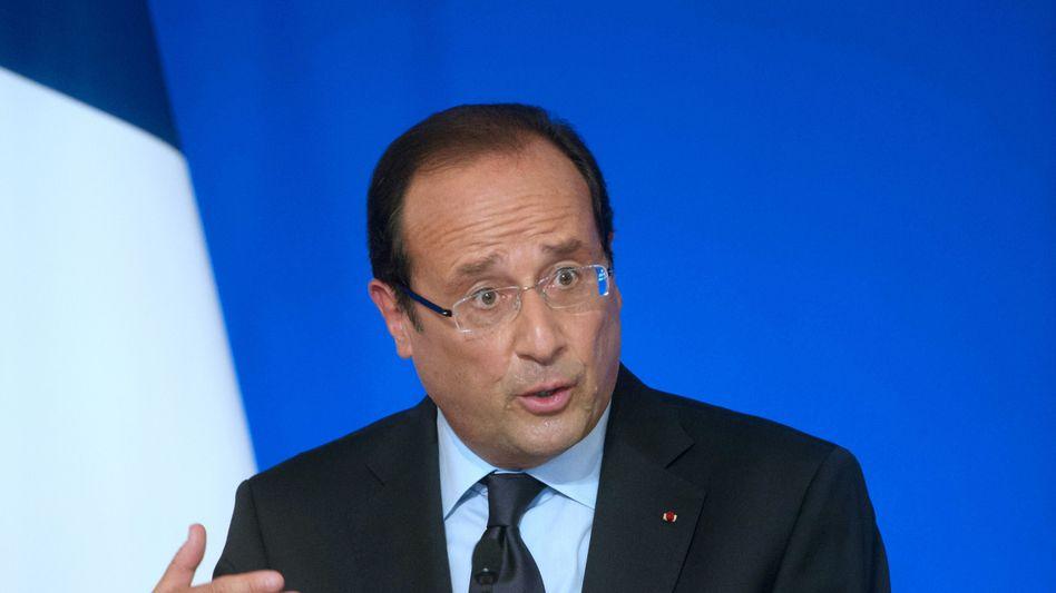 Präsident Hollande: Nur noch 44 Prozent der Franzosen sind mit seiner Arbeit zufrieden