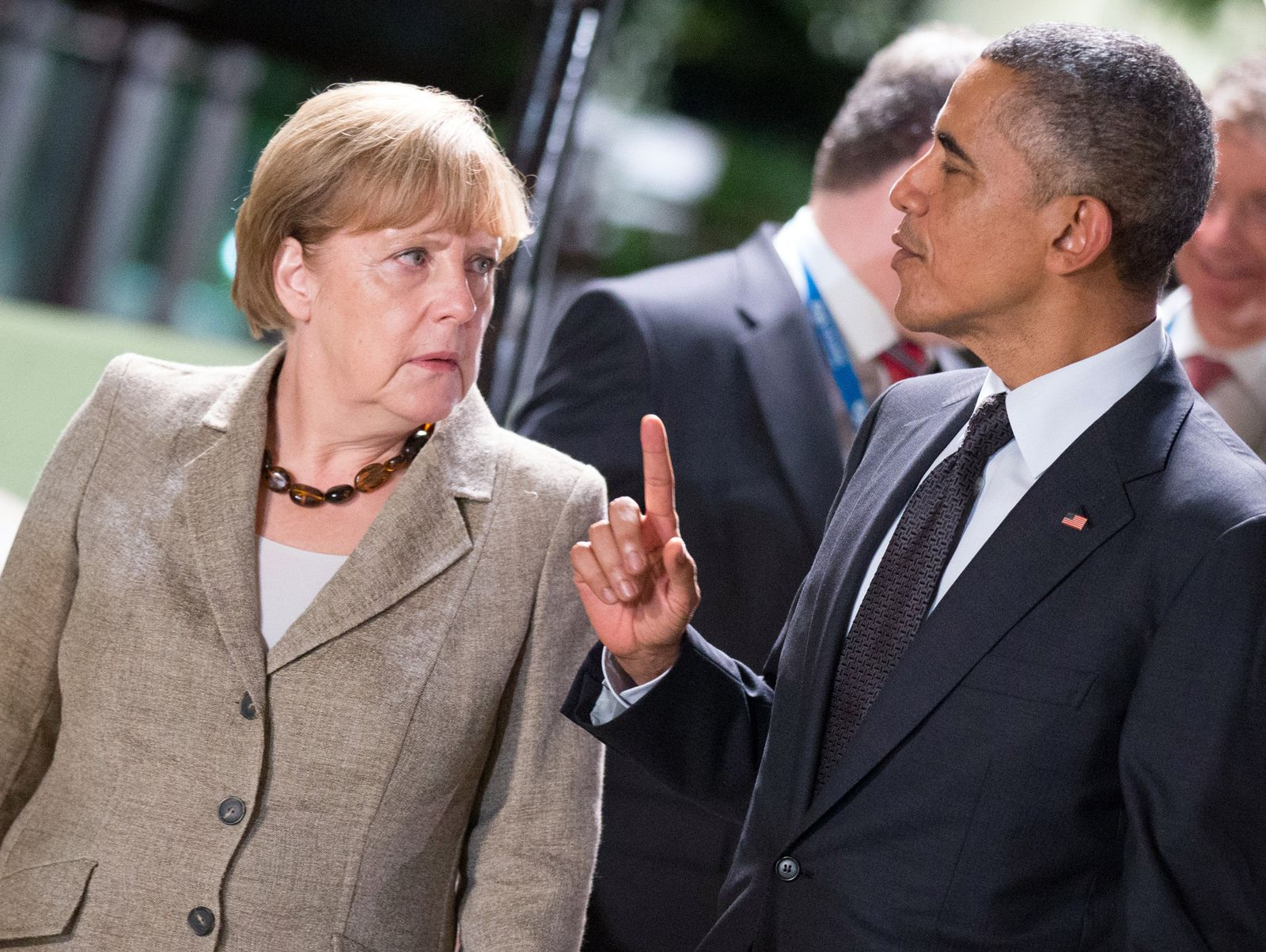 Merkel und Obama
