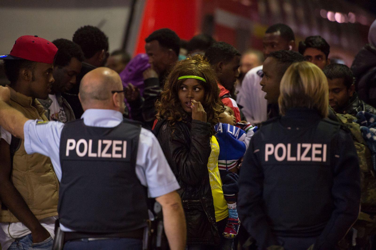 Flüchtlinge kommen in München an