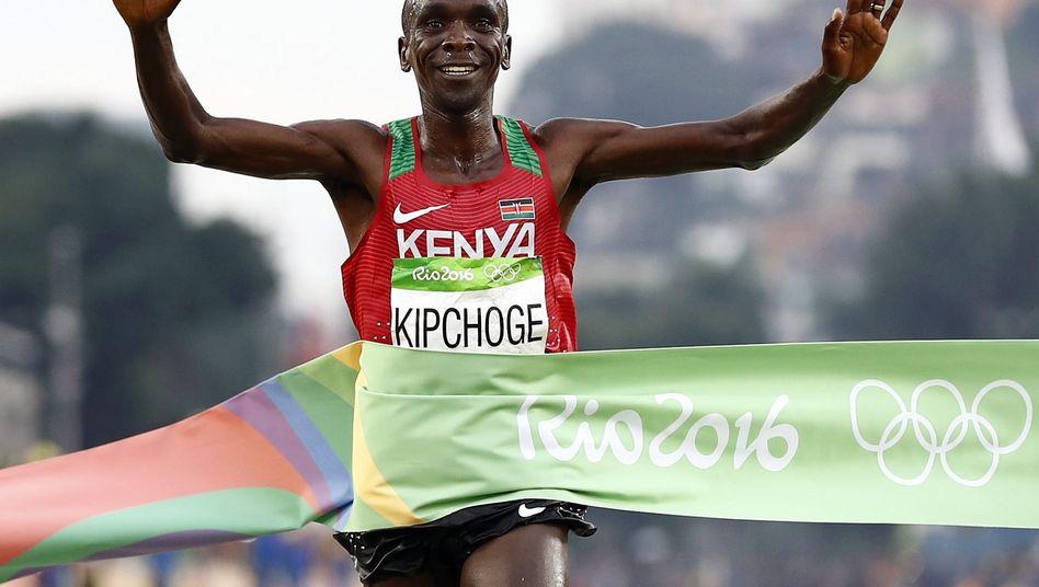 Der kenianische Marathon-Olympiasieger Eliud Kipchoge