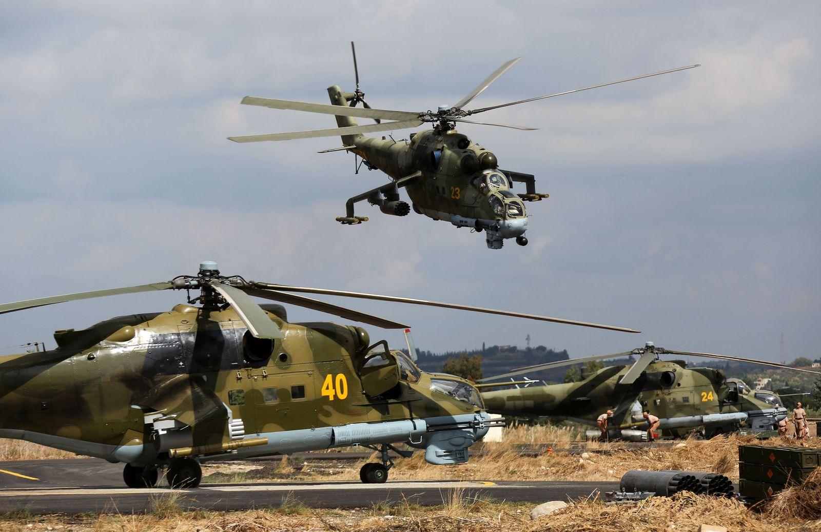 NICHT MEHR VERWENDEN! - Russland/ Syrien/ MI-24 Hubschrauber