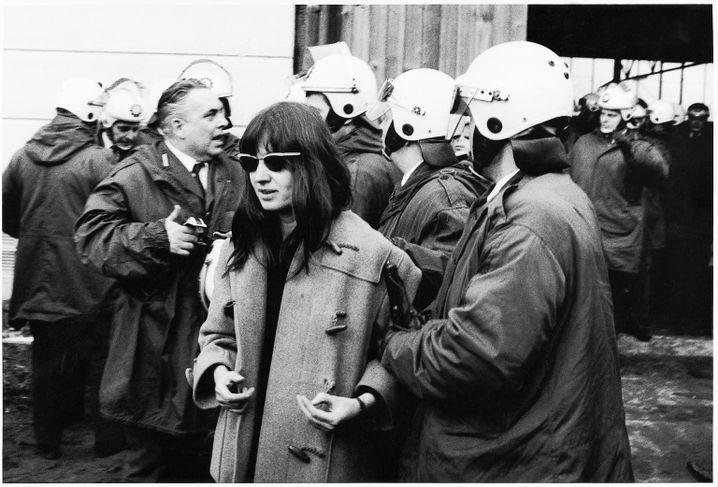 Journalistin Meinhof in Berlin 1970