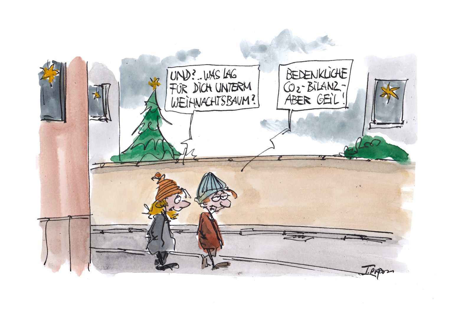 EINMALIGE VERWENDUNG Cartoons/ 28.12.19