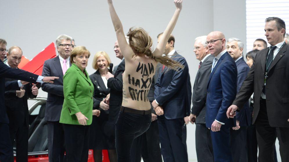 Photo Gallery: Femen Takes on Putin in Germany