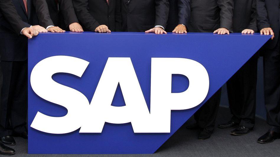SAP-Logo in Walldorf: Übernahme der US-Firma Sybase für 5,8 Milliarden Dollar