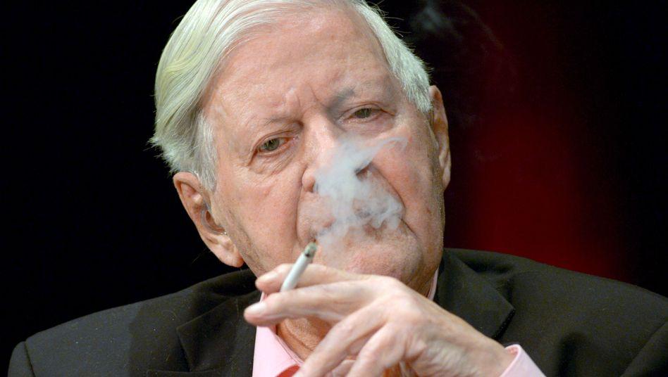 """Altkanzler Helmut Schmidt: """"Eine Entwicklung, die mir sehr missfällt"""""""