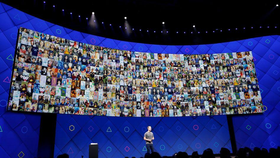 Facebook-Profile, Firmenboss Zuckerberg