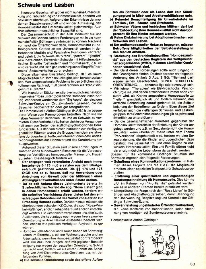Auszug aus dem von Trittin presserechtlich verantworteten Göttinger Kommunalwahlprogramm der Alternativen-Grünen-Initiativen-Liste (AGIL) von 1981
