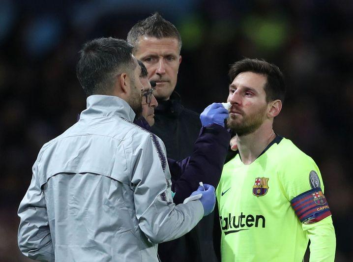 Messi wird behandelt