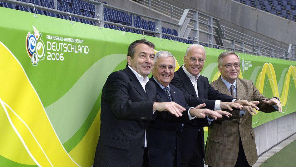 Das WM-Organisationskomitee 2006: Niersbach, Zwanziger, Beckenbauer und Schmidt