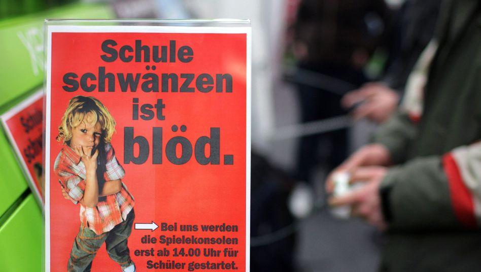 Anti-Schwänzer-Schild in Berlin: Kreativ gegen das Massenphänomen Schulverweigerung