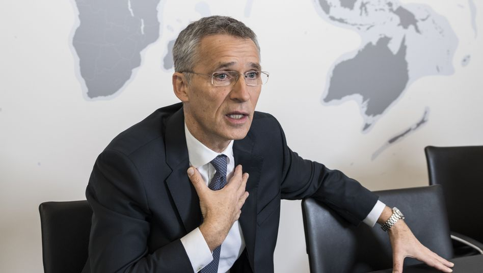 NATO Secretary General Jens Stoltenberg during his interview in Brussels