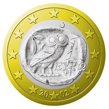 Wegen des Eulen-Motivs bei Sammlern besonders beliebt: das griechische Ein-Euro-Stück
