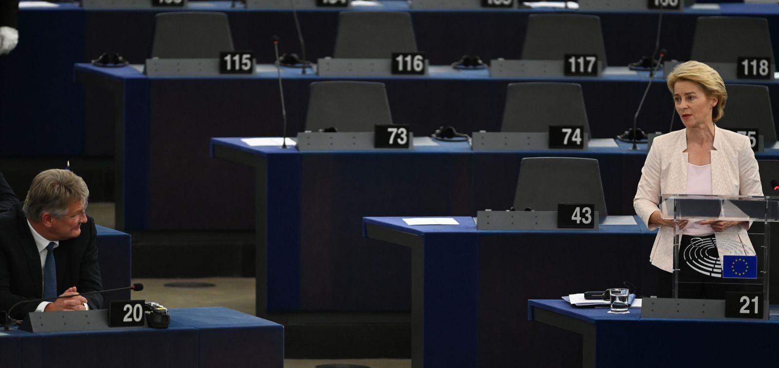 European Parliament in Strasbourg, France - 16 Jul 2019