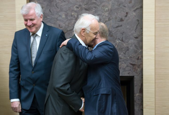 Seehofer, Stoiber, Putin in Moskau
