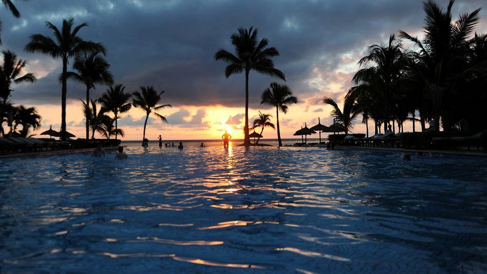 Sonnenuntergang auf Mauritius: Vulkaninsel auf einem Mini-Kontinent
