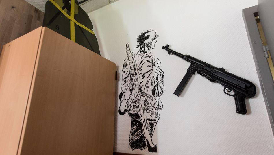 Aufenthaltsraum des Jägerbataillons 291 der Bundeswehr in Illkirch bei Straßburg
