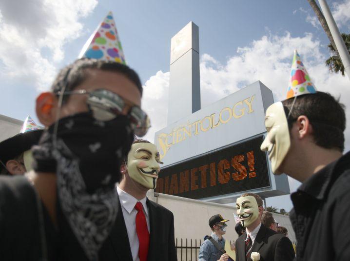 Anonymous-Demo gegen Scientology in Los Angeles (2008)