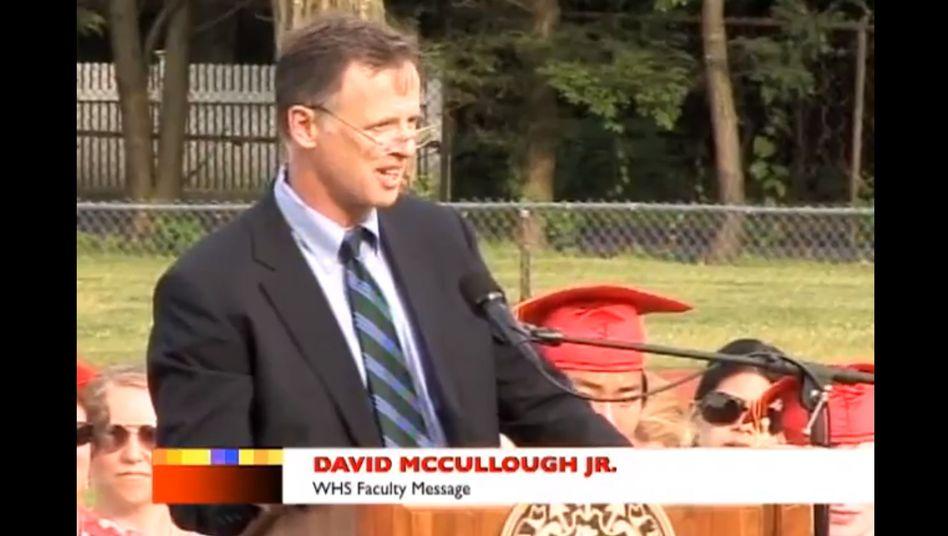 """David McCullough Jr. bei der Abschlussfeier: """"Verhätschelt, verwöhnt, umschwärmt"""""""