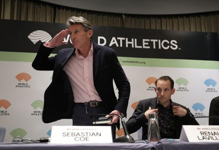 Sebastian Coe (l.): Präsident des Leichtathletik-Weltverbands