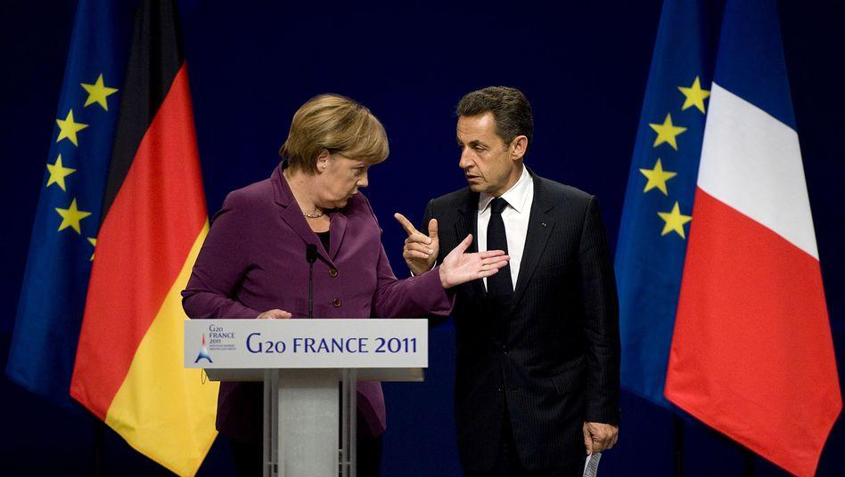 Merkel und Sarkozy in Cannes: Standpauke für die Griechen