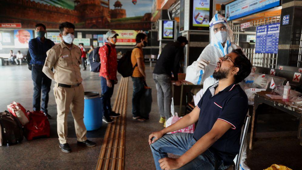 Indischer Flughafen: Antigentest