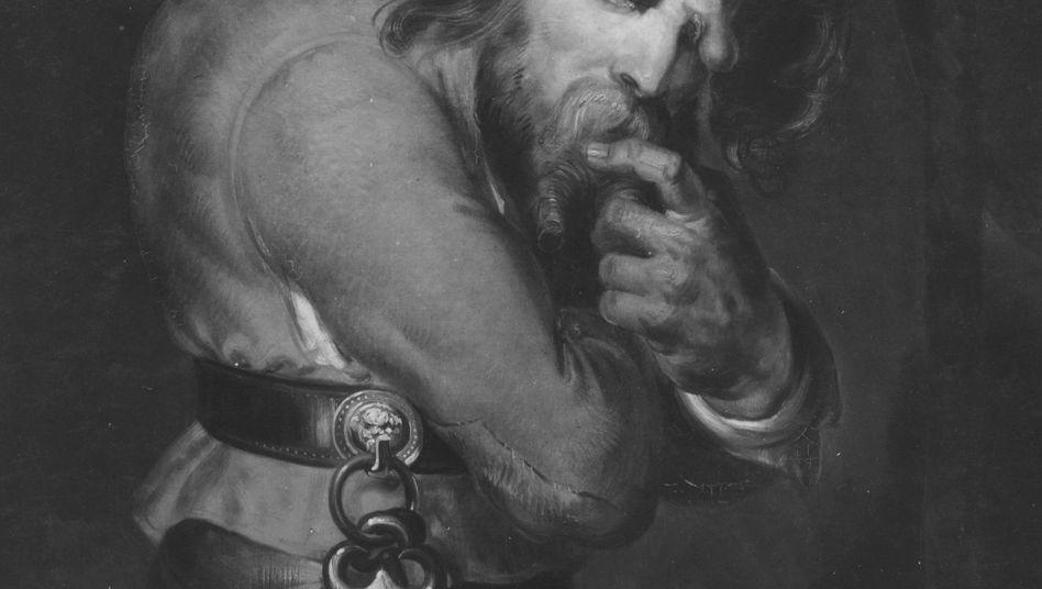 Buckliger Quasimodo: vor Schmerzen gekrümmt