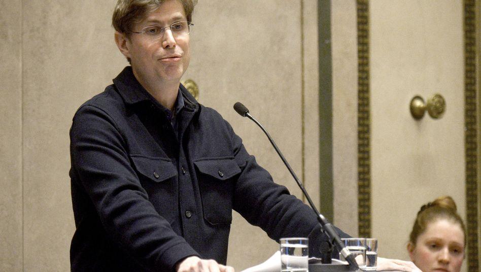 Schriftsteller Daniel Kehlmann bei der Preisverleihung in Wien