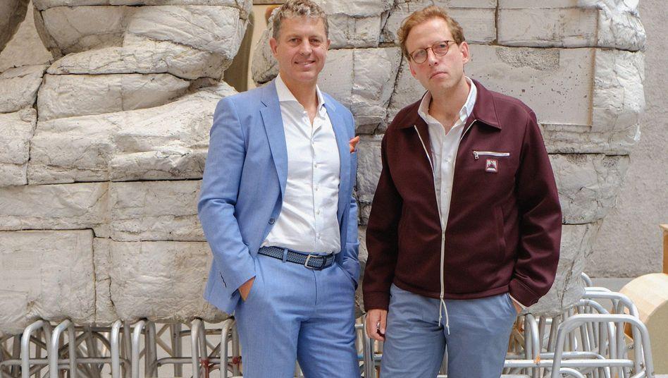 """Galerist Johann König (r.) und Auktionator Robert Ketterer: """"Ich bin gegen jegliche Quoten"""""""
