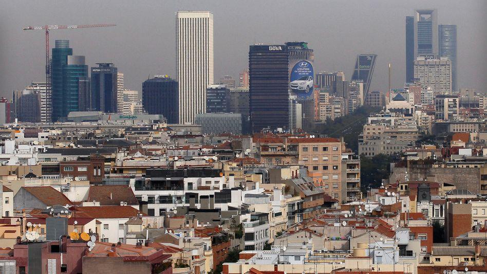 Finanzviertel von Madrid: Europaweit am meisten faule Kredite
