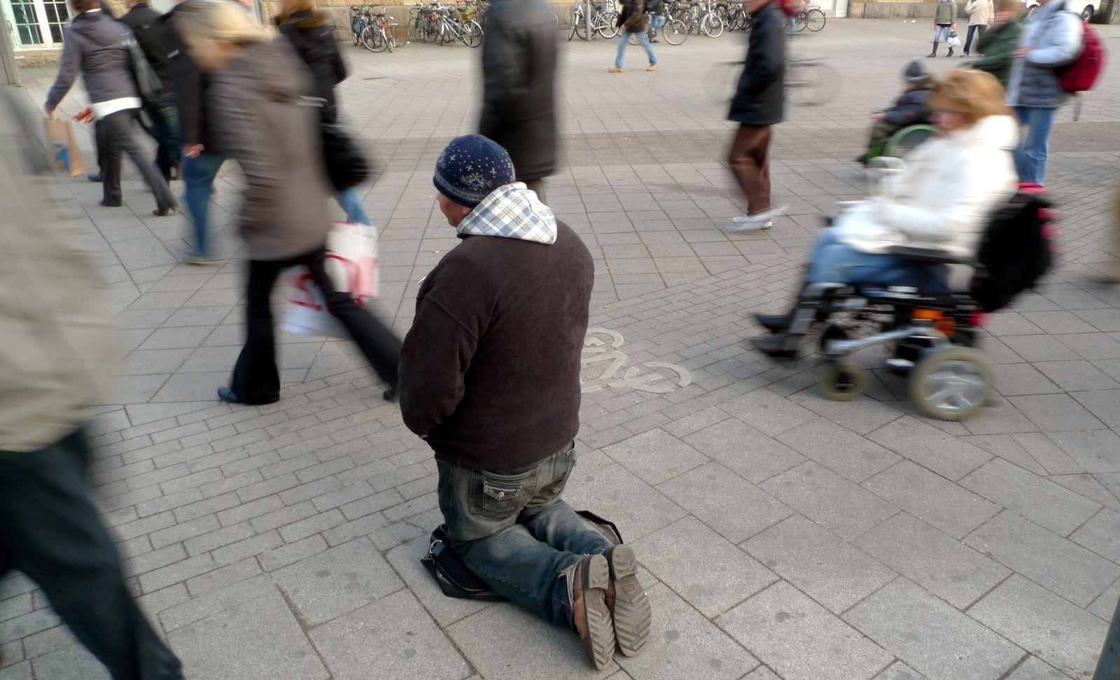 Bettler / Obdachloser / Armut
